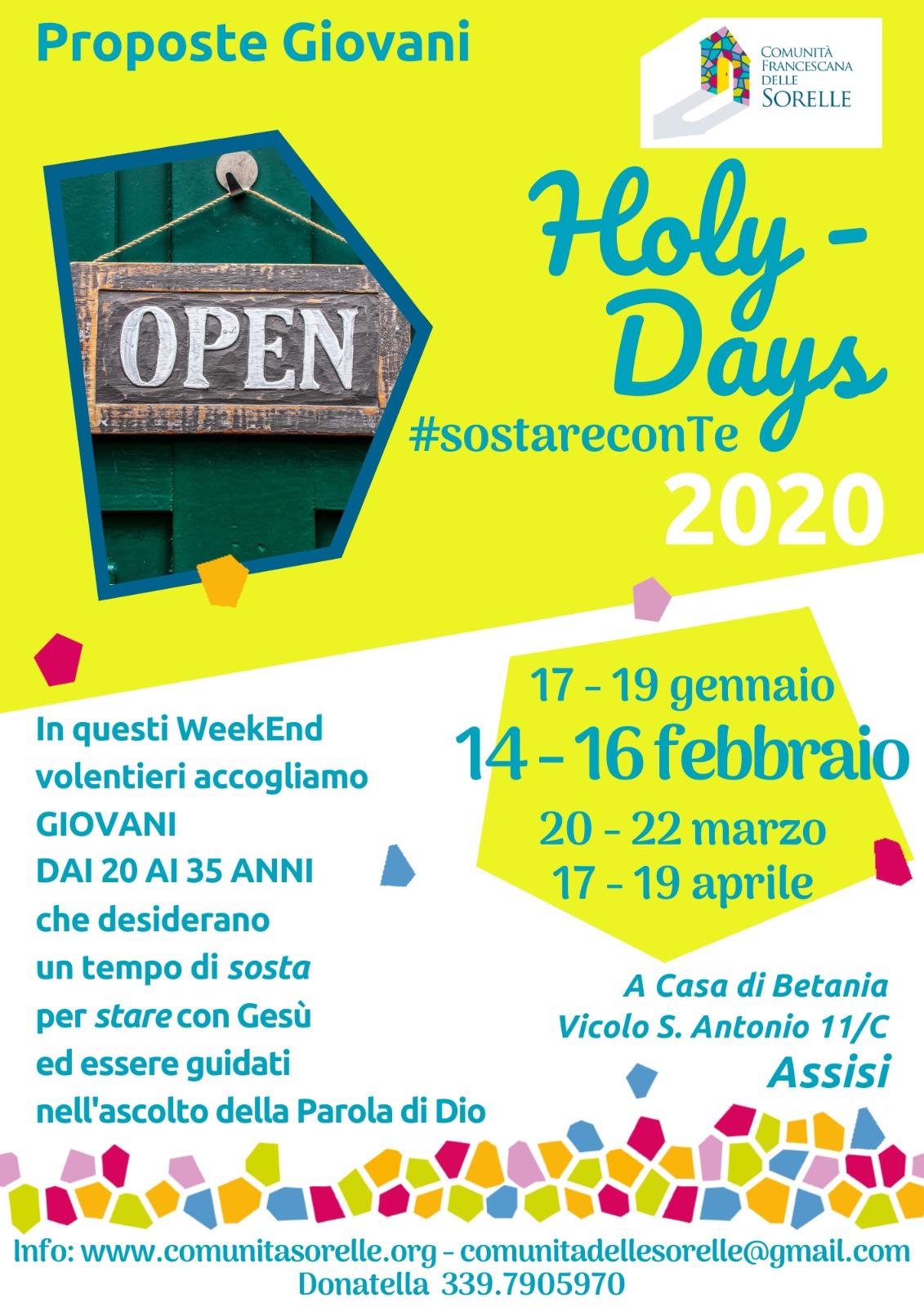 14-16 febbraio                   Weekend ad Assisi
